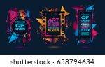 futuristic frame art design... | Shutterstock .eps vector #658794634
