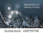 internet network  abstract... | Shutterstock . vector #658794748