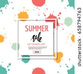 summer sale banner. seamless... | Shutterstock .eps vector #658794763