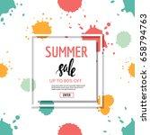 summer sale banner. seamless... | Shutterstock .eps vector #658794763