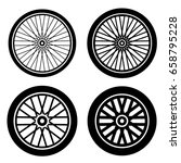 Bike Motorbike Wheels Black...