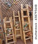 Wood Ladder Display For Cerami...