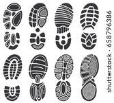running sport shoes vector... | Shutterstock .eps vector #658796386