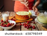 ingredients for baking cake... | Shutterstock . vector #658798549