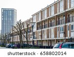english terraced houses in... | Shutterstock . vector #658802014