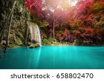 waterfall in forest at erawan... | Shutterstock . vector #658802470