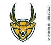 deer head animal mascot vector...   Shutterstock .eps vector #658806634
