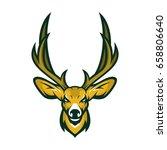 deer head animal mascot vector... | Shutterstock .eps vector #658806640
