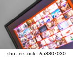 Small photo of Adult xxx porno site. Blurred image.