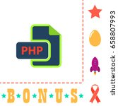 php icon illustration. flat...