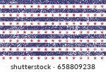 4th of july stars and stripes... | Shutterstock .eps vector #658809238