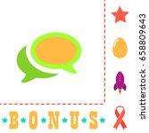 chat icon illustration. flat...