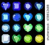 set of cartoon different color... | Shutterstock .eps vector #658812688