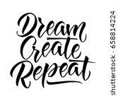 modern calligraphy... | Shutterstock .eps vector #658814224