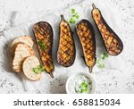 Grilled Eggplant And Sauce...