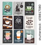 coffee and tea vintage poster.... | Shutterstock .eps vector #658817080