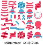 ribbons and labels set. vector... | Shutterstock .eps vector #658817086
