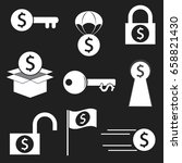 finance icon key of money... | Shutterstock .eps vector #658821430