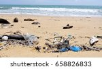 Pollution On The Beach Of...