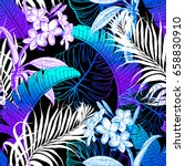 seamless tropical pattern.... | Shutterstock .eps vector #658830910