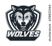 wolf animal mascot head vector...   Shutterstock .eps vector #658832464