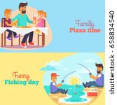 dad celebrating father's day... | Shutterstock .eps vector #658834540