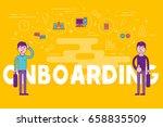 employees onboarding concept.... | Shutterstock . vector #658835509