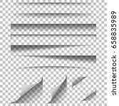 paper shadow effect on a... | Shutterstock .eps vector #658835989