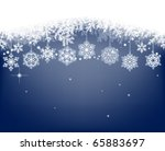 winter background with... | Shutterstock .eps vector #65883697