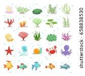 marine animals  fishes... | Shutterstock .eps vector #658838530