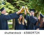 graduation student commencement ... | Shutterstock . vector #658839724