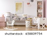 bright crib nook with golden... | Shutterstock . vector #658839754
