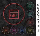 color vector calendar outline
