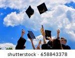 graduation student commencement ...   Shutterstock . vector #658843378
