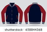 jacket template | Shutterstock .eps vector #658844368