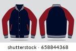 jacket template | Shutterstock .eps vector #658844368