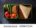 take out food lunch box with... | Shutterstock . vector #658847104