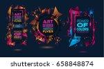 futuristic frame art design... | Shutterstock . vector #658848874