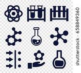 scientific icons set. set of 9... | Shutterstock .eps vector #658849360
