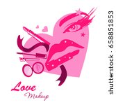 love make up beauty logo emblem ... | Shutterstock . vector #658851853