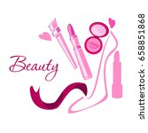 make up style beauty logo... | Shutterstock . vector #658851868