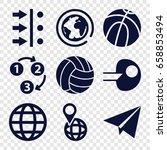 sphere icons set. set of 9... | Shutterstock .eps vector #658853494