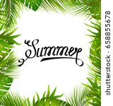 lettering text summer with... | Shutterstock .eps vector #658855678