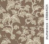 floral seamless pattern. garden ... | Shutterstock .eps vector #658864024