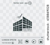 buildings icon for company | Shutterstock .eps vector #658869028