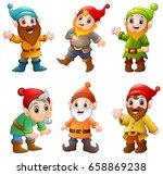 set of cartoon happy dwarf  | Shutterstock . vector #658869238