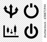 Turn Icons Set. Set Of 4 Turn...