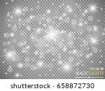 glow light effect. vector... | Shutterstock .eps vector #658872730