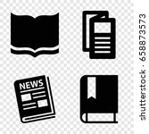 publication icons set. set of 4 ...   Shutterstock .eps vector #658873573