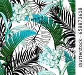 seamless tropical pattern.... | Shutterstock .eps vector #658873618